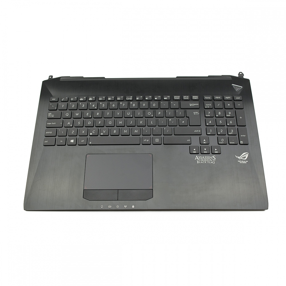 Клавиатура за ASUS G750 G750JW (Palmrest with keyboard) Black Frame Black UK