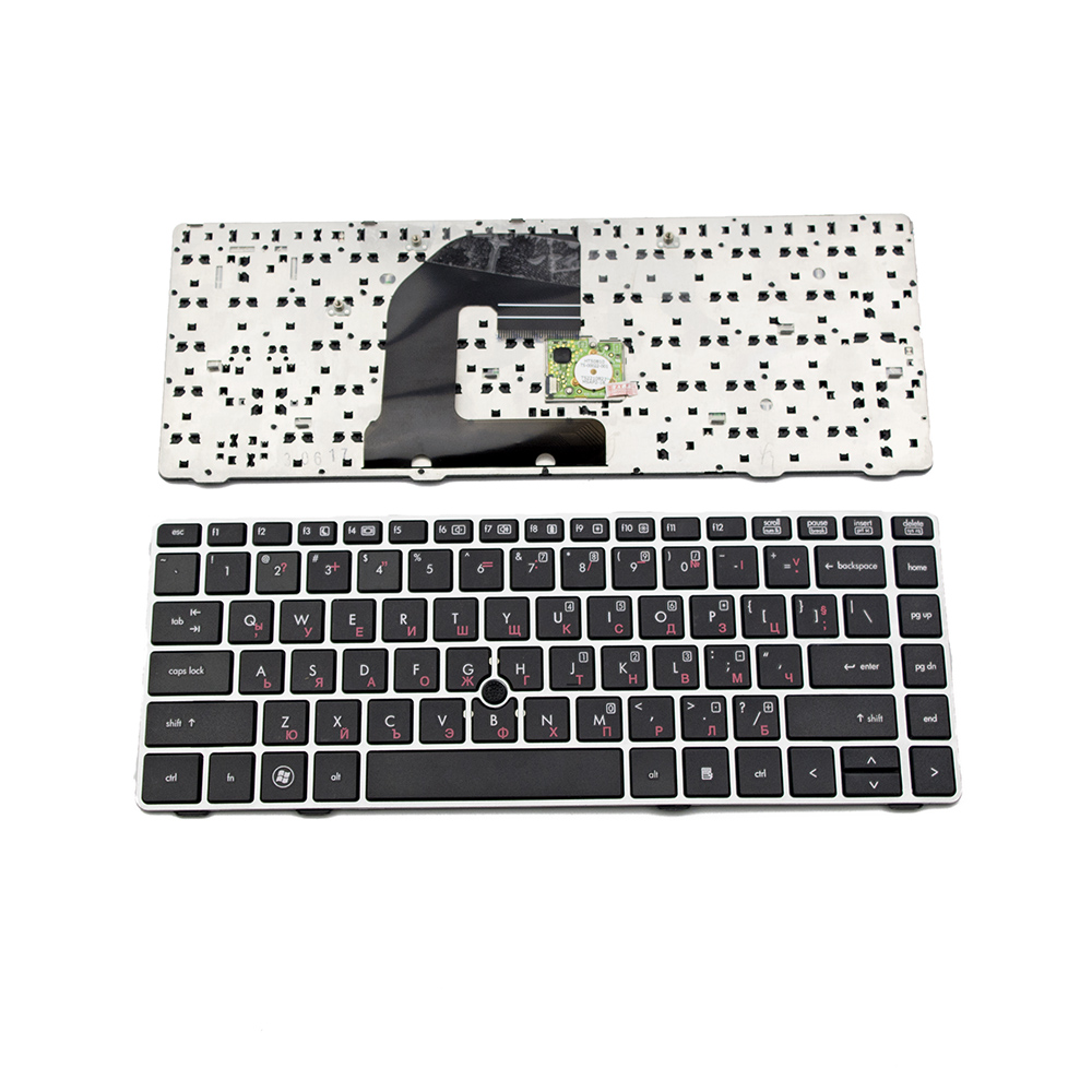 Клавиатура за HP ProBook 6460 6465 6470B EliteBook 8460p Silver Frame Black US